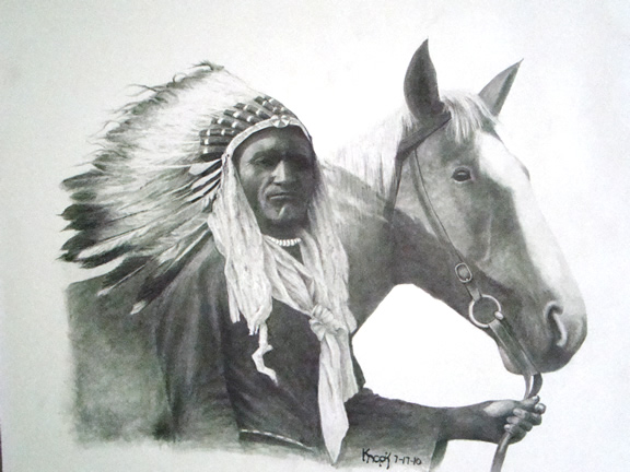 Native American Horse Drawings Native american and horse